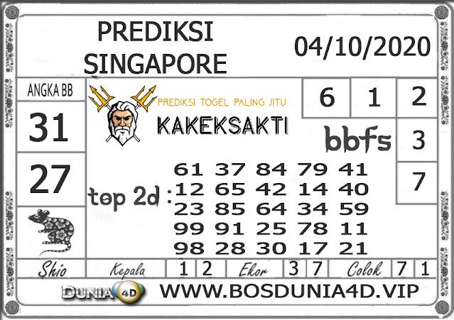 Prediksi Togel SINGAPORE DUNIA4D 04 OKTOBER 2020