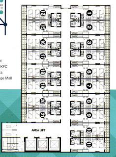 Floor Plan Lantai Di Apartemen Murah 300 Jutaan De'Glass Residence Medan