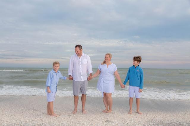 Sanibel Island Family on the beach