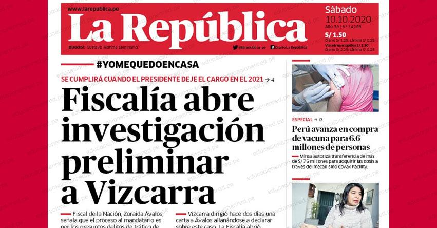 Fiscalía inicia investigación al presidente Martín Vizcarra por tráfico de influencias y obstrucción a la justicia