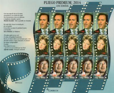 Pliego premium dedicado a Alfredo Landa, Manolo Escobar y Sara Montiel