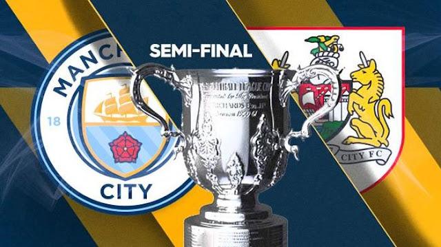 Cuplikan Gol Manchester City 2-1 Bristol City | Semifinal Leg 1 Carabao Cup