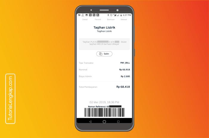 tutorialengkap 6 cara bayar listrik online melalui aplikasi LinkAja di android