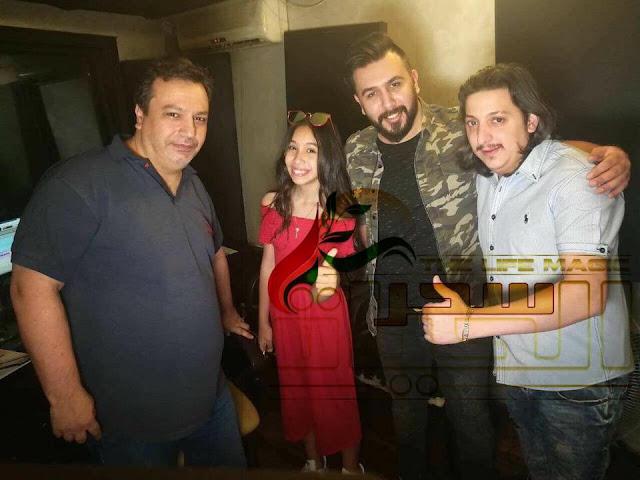 جورية حمدي تسجل اغنية في فيلم تدور الاقدار