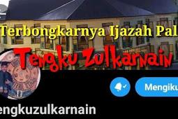 Tengku Zul Diduga Ijazah Palsu