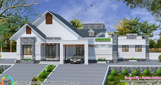 1900 square feet 4 bedroom home kerala home design and for 1900 sq ft house plans kerala