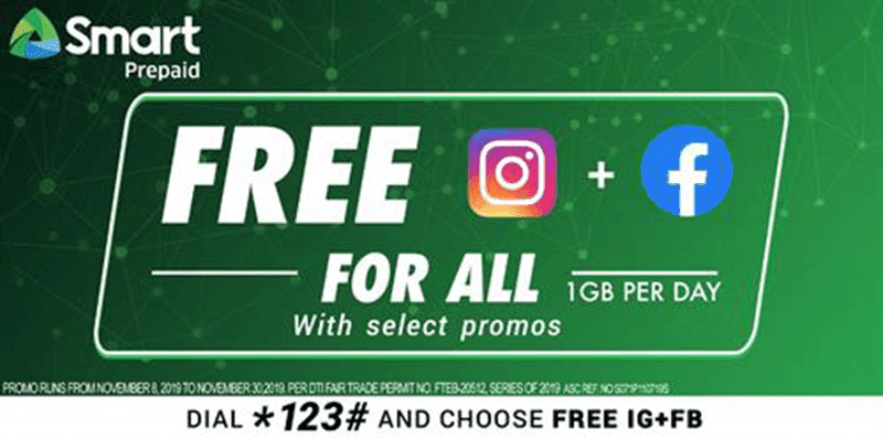 Smart, TNT announces its FREE Instagram and Facebook for all