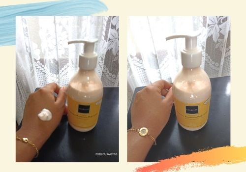before and after penggunaan scarlett body lotion