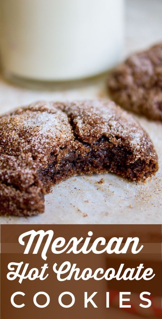 Mexican Hot Chocolate Cookies (Chocolate Snickerdoodles)