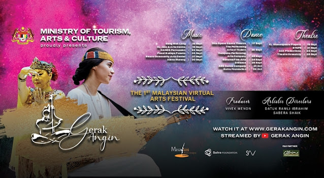 Gerak Angin, First Malaysian Virtual Arts Festival, Studio Ramli Hassan, Taman Tunku, Dato' Sri Nancy Shukri, Minister of Tourism Malaysia, Lifestyle