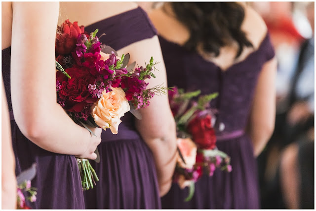 photo of bridesmaids bouquets