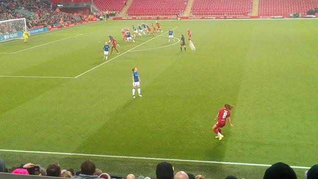 Liverpool free-kick vs. Everton