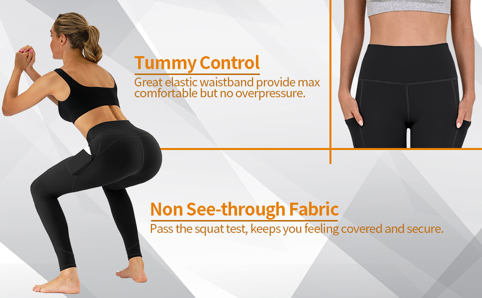 JOOKEE High Waist Yoga Pants with Pockets