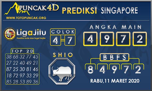PREDIKSI TOGEL SINGAPORE PUNCAK4D 11 MARET 2020