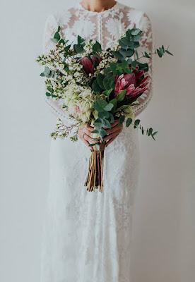 Ramos de novia con eucalipto