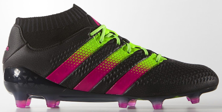 new products 45569 273b2 Black / Pink / Green Adidas Ace 16.1 Primeknit Boots Released