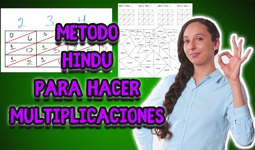 Método Hindú para multiplicar más ejercicios para imprimir