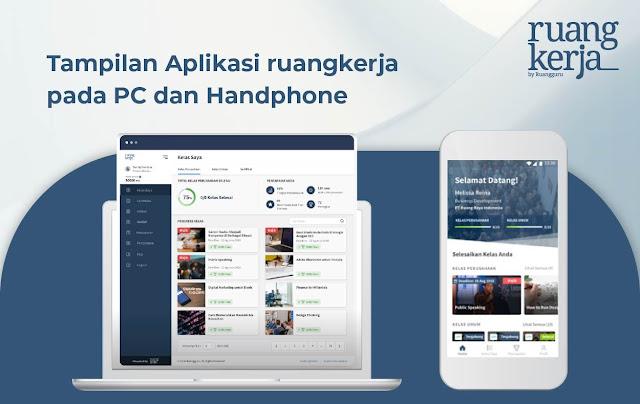 User interface Aplikasi Ruangkerja