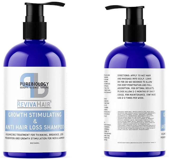 1.Pure Biology Hair Growth Stimulating Shampoo