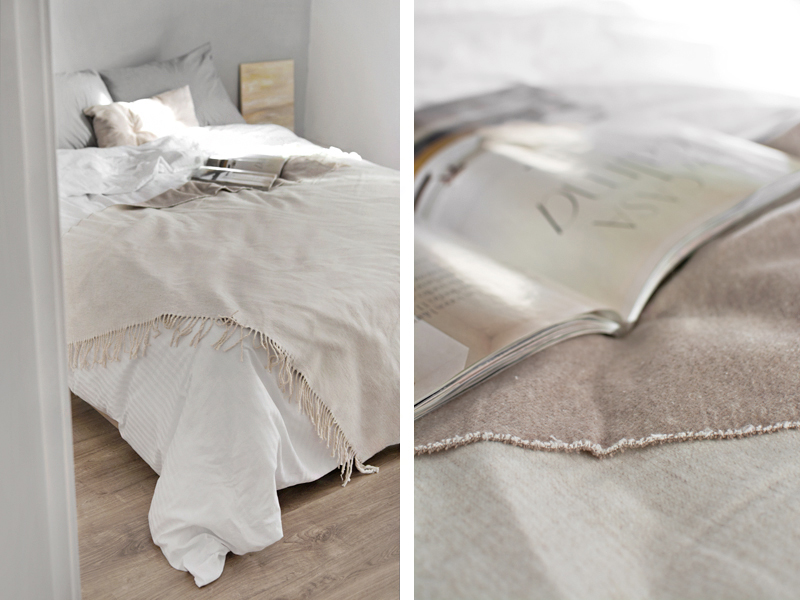DECORAR UN DORMITORIO PEQUEÑO CON TEXTILES (Y SIN CABECERO) / DECORATE A SMALL BEDROOM WITH TEXTILES (AND NO HEADBOARD)