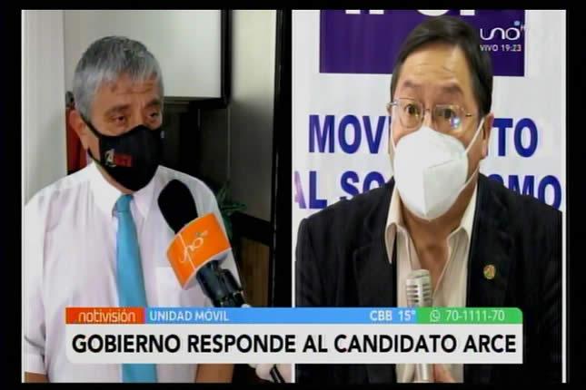 VIDEO: Arias le responde al botarate e irresponsable Luis Arce que no supo manejar la economía