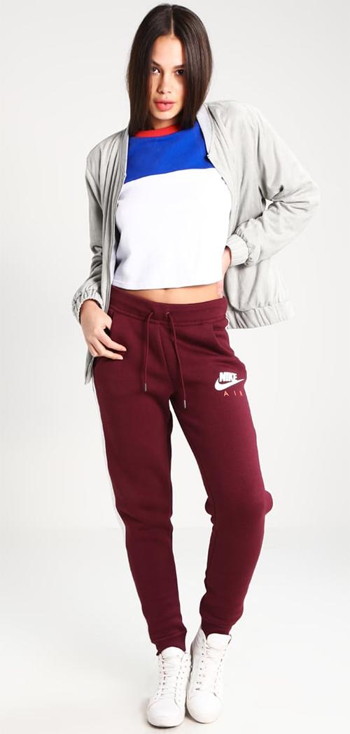 Pantalon de survêtement femme bordeaux Nike Sportswear