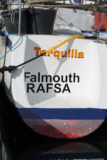 Sugar scoop with Tarquilla RAFSA Falmouth in vinyl letters