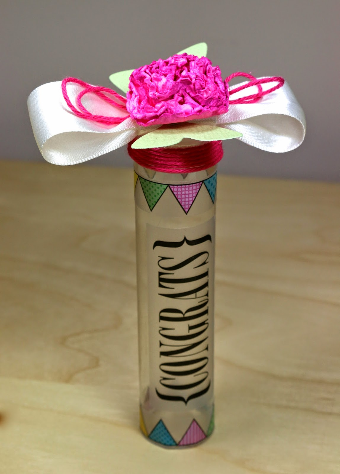 SRM Stickers Blog - Flower Power Tube Tutorial by Cathy A - #tubes #twine #stickers #punched pieces #congrats #favor #gift #container #tutorial