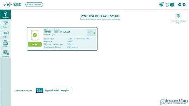 Smart Disk Checker  : un logiciel gratuit pour tester vos disques durs et SSD