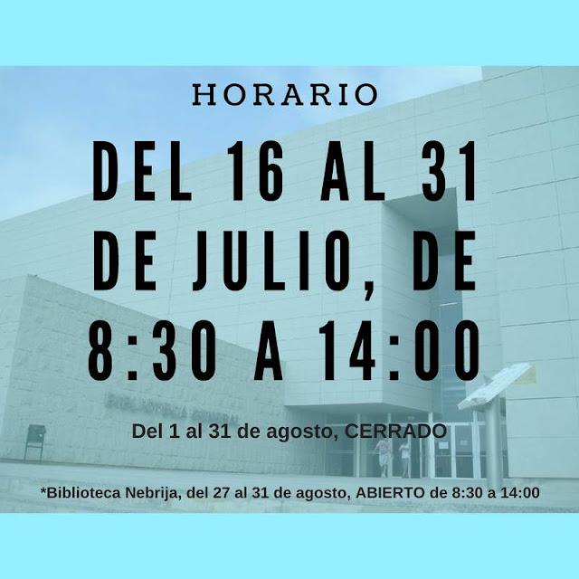 Horario a partir del 16 de julio