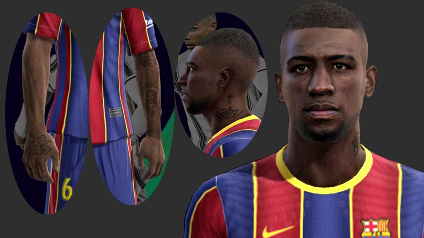 Emerson Royal Face (Barcelona) For PES 2013