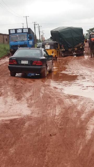 Photos: Check out the bad state of the popular Proda Road in Enugu
