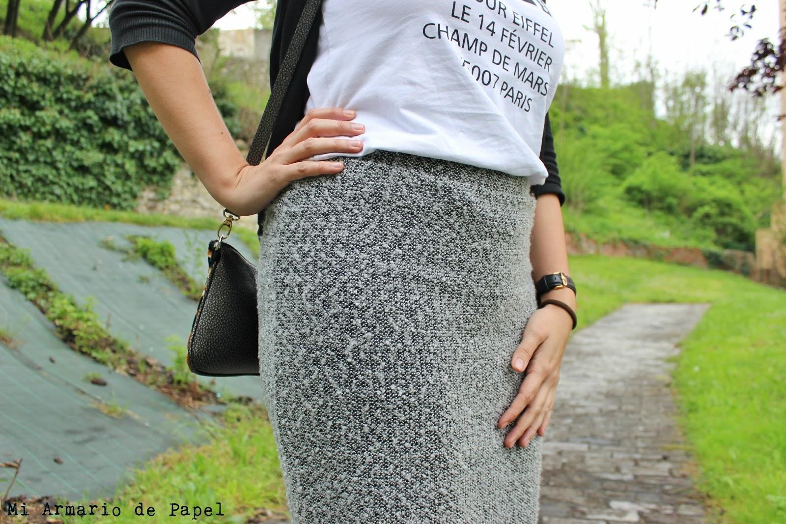 22d6330631 Outfit  Cómo Llevar una Falda Lápiz - Mi Armario de Papel