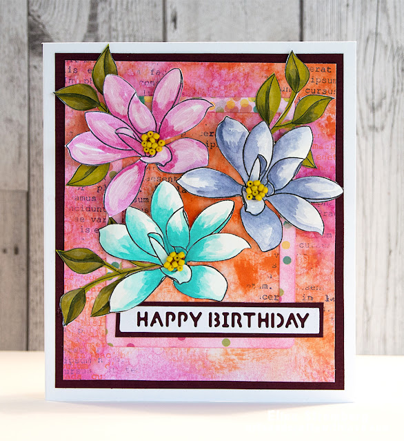 Cardmaking: Colourful flowers