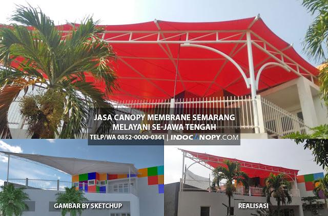 jasa canopy membrane semarang