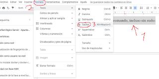 Cómo tachar el texto en Google Docs