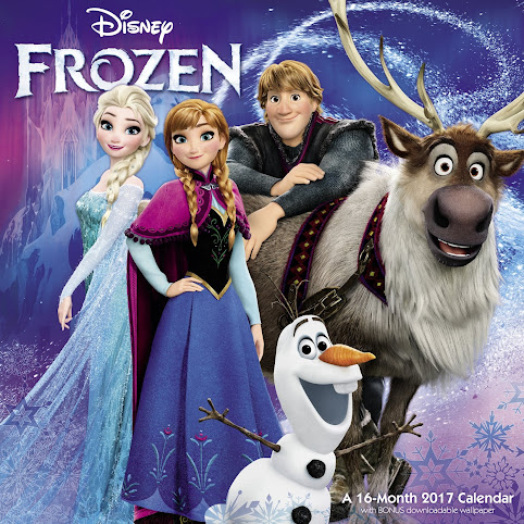 A Frozen calendar would make a great gift idea for any woman who loves the Disney movie.