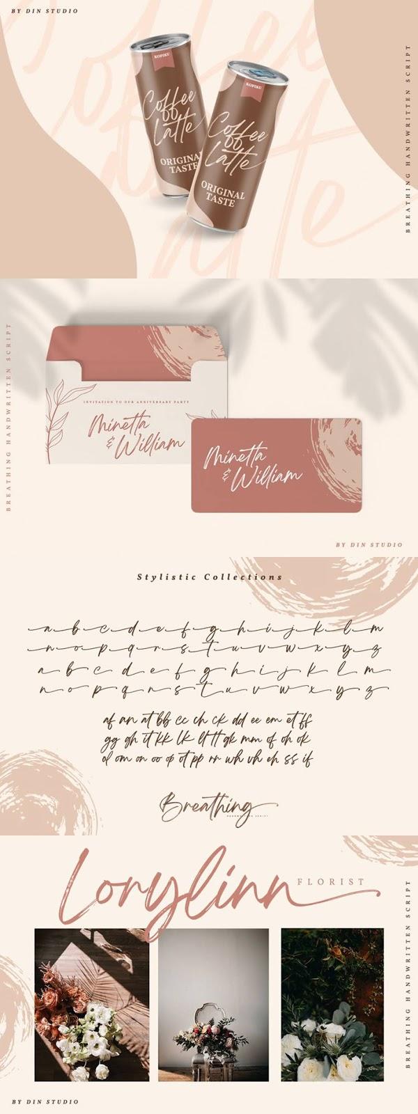 Breathing Brush Signature Font