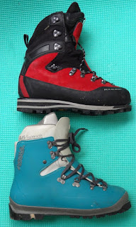 Mammut Meridian GTX and Asolo Plastic Boots