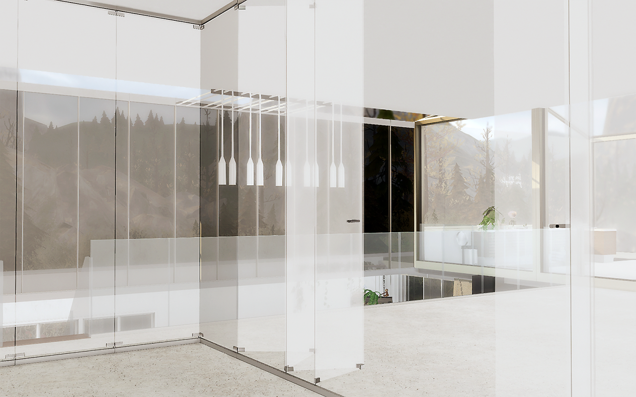 Sims 4 Cc S The Best Folding Glass Divider Set By Yumia