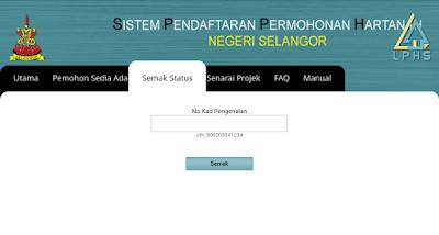 Semakan Status Permohonan Rumah Selangorku Online