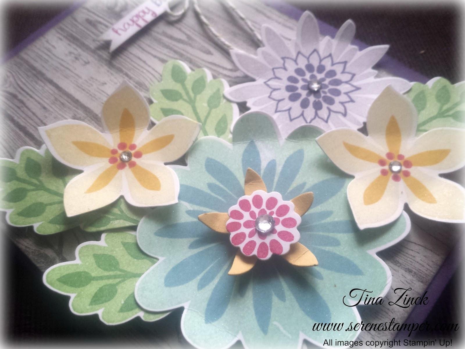 The Serene Stamper Flower Patch Birthday Card