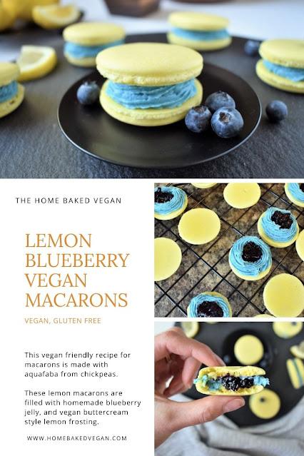 Lemon Blueberry Vegan Macarons