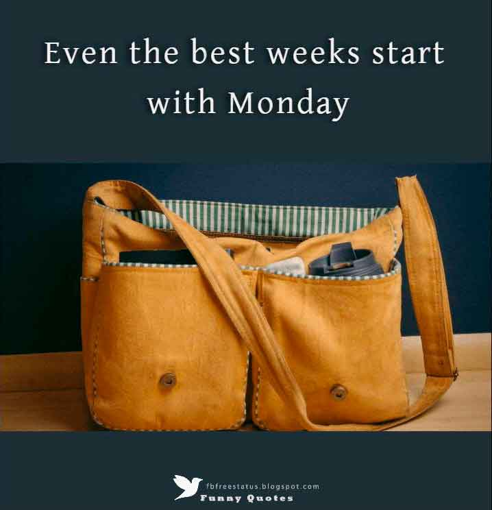Even the best weeks start with Monday