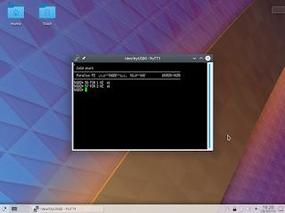 Interagindo com a placa P2 Eval. O programa residente na memória ROM do micro-controlador permite manipular os pinos.