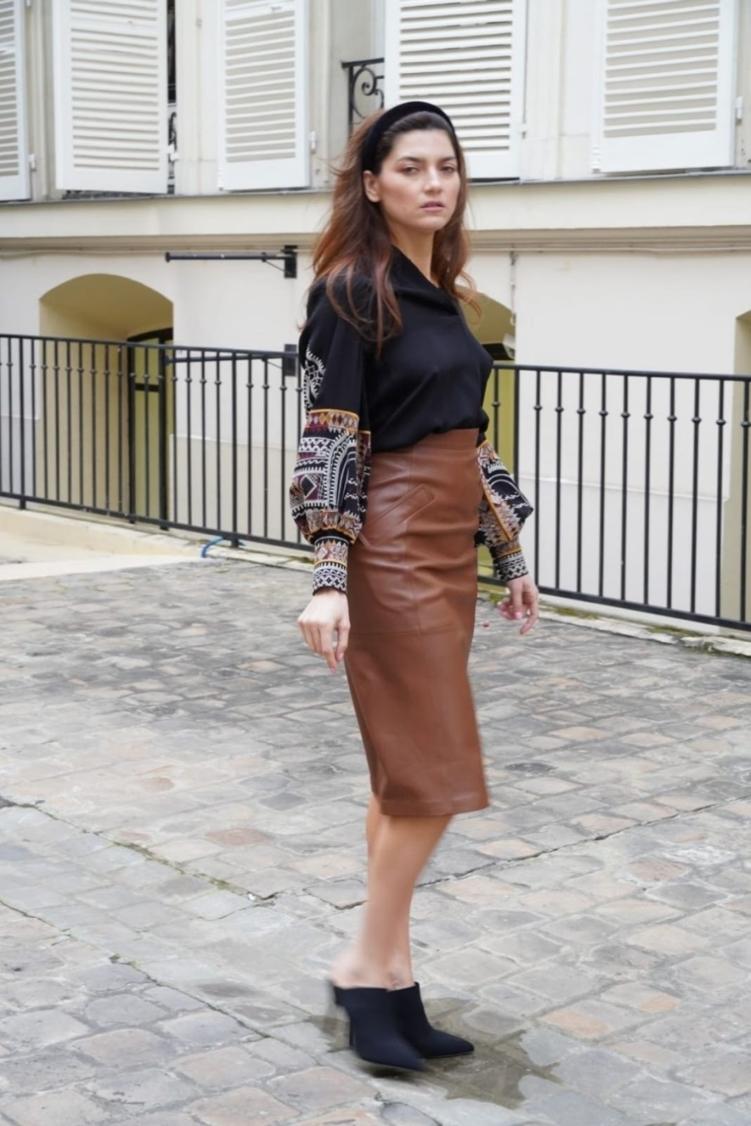 Blanca Blanco Poses for a photoshoot in Paris during PFW