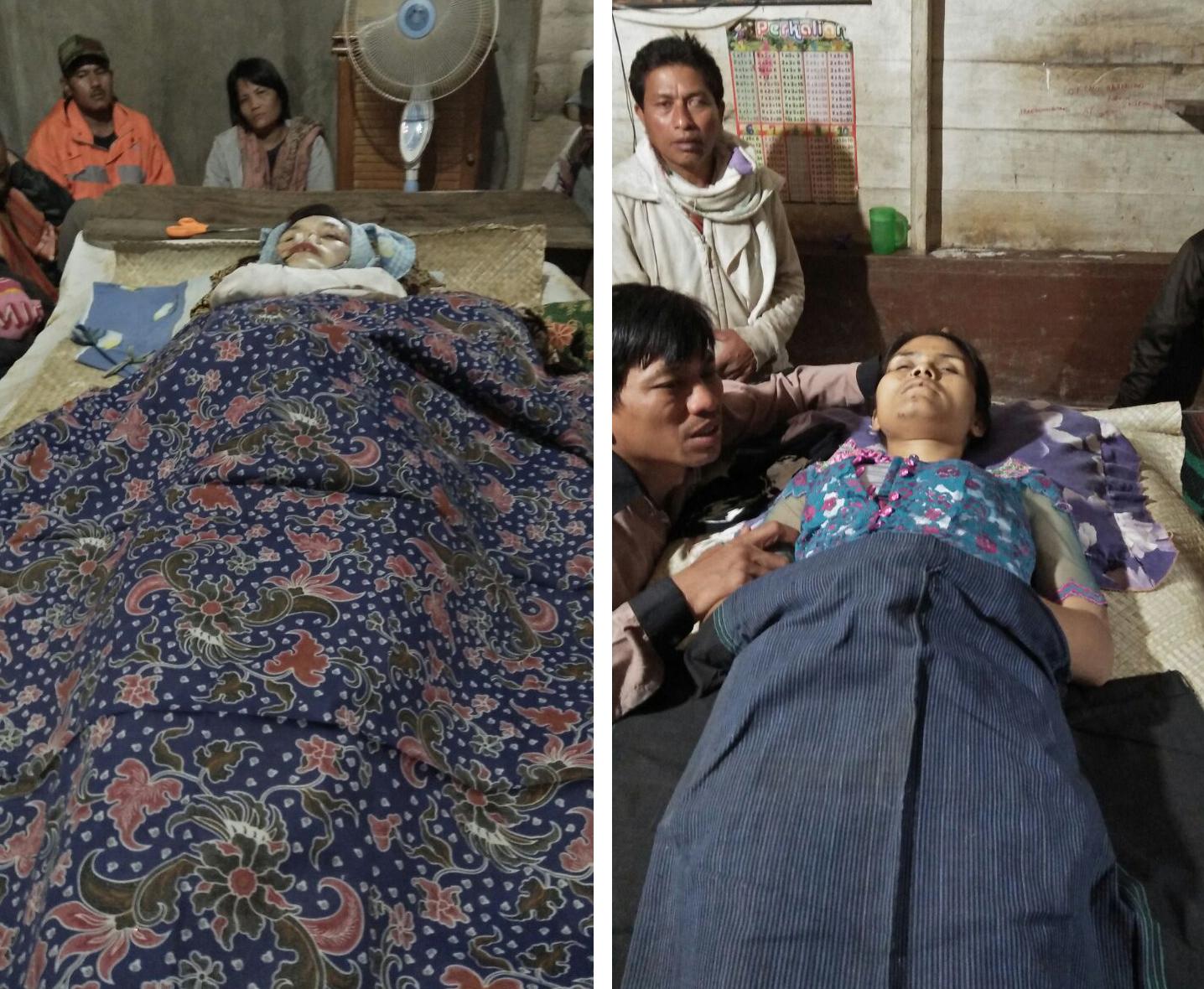 Kedua ibu rumah tangga yang tewas tertimpa bangunan bak penampung air yang runtuh