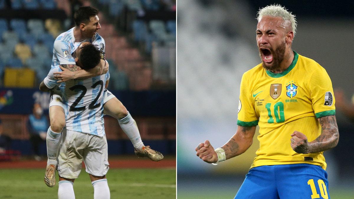 موعد مباراة البرازيل والارجنتين