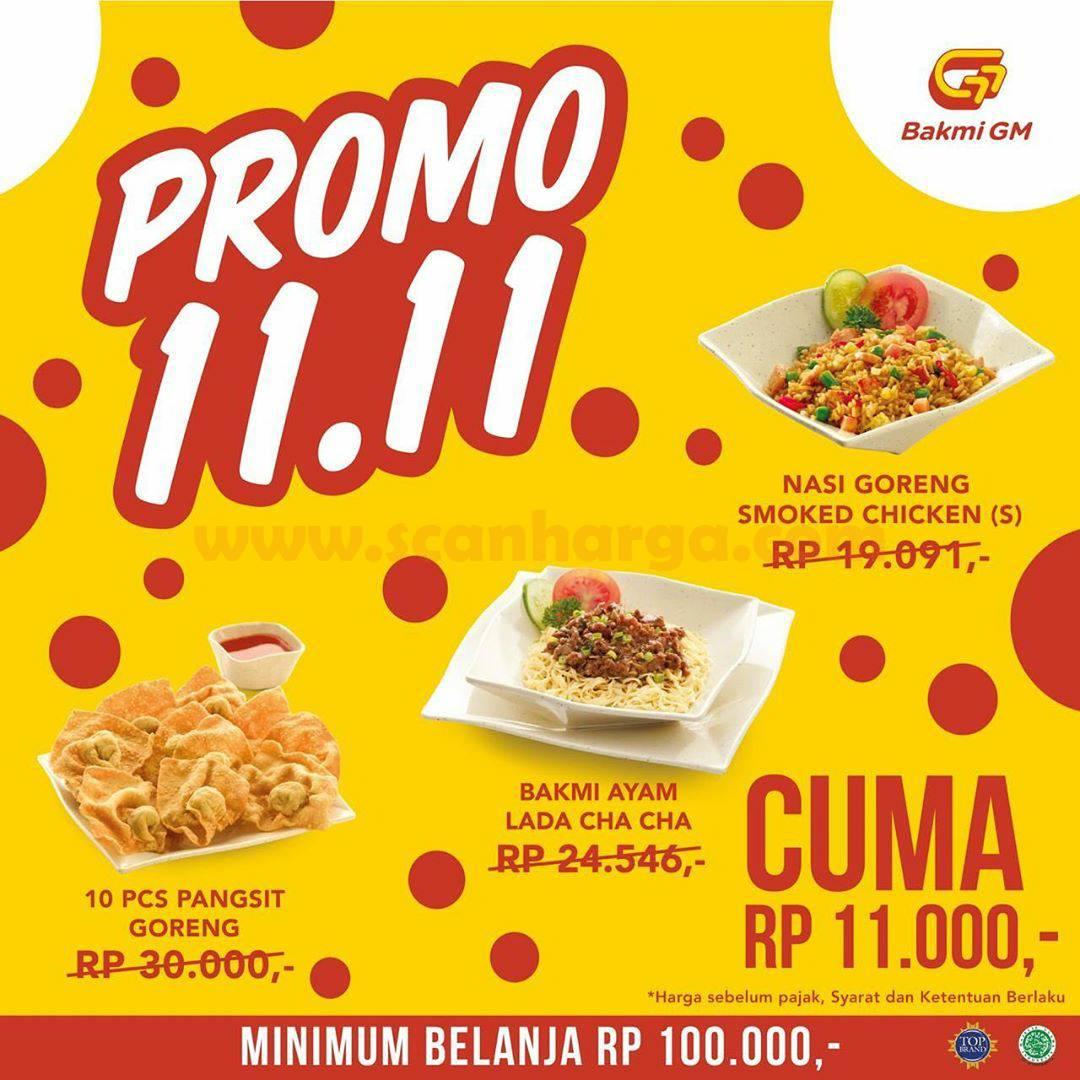 Bakmi GM Promo 11.11 [10/Bakmi Ayam Lada Cha Cha/Nasi Goreng Smoked Chicken S] cuma Rp 11rb*