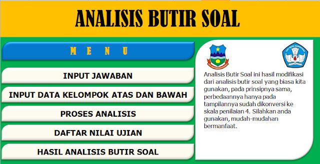 Aplikasi Analisis Butir Soal Uraian Dan Pilihan Ganda Kurikulum 2013 Plus KTSP SD, SMP, SMA